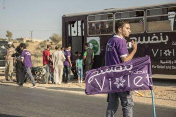 حواجز لنشر السعادة لأول مرة في الشمال السوري