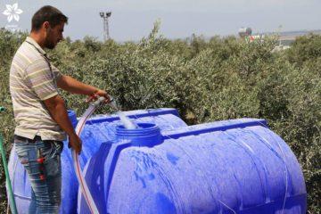 تسعون خزان مياه جاهزة للاستخدام في المخيمات
