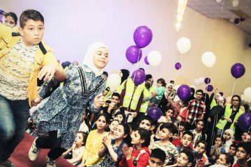 Party for orphans in Jordan