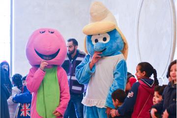 حفل دعم نفسي للأيتام في الأردن