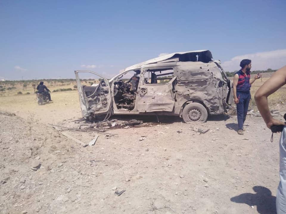 سيارة الإسعاف الذي تم استهدافها