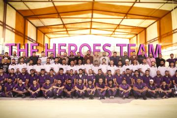 (العربية) فريق الأبطال في المخيم الأول داخل سوريا !