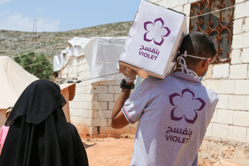 Ramadan .. A tragedy for the displaced people and Violet response to help the affected families