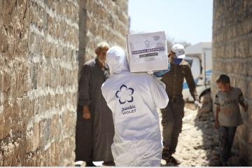 كيف تعاملت بنفسج مع الإصابات بفايروس كورونا بمدينة سرمين شمال غرب سوريا